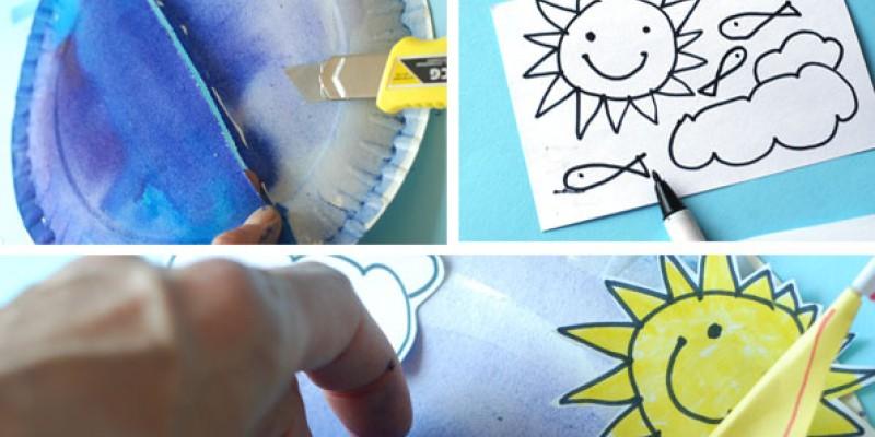 کاردستی کودک: دریا و قایق با بشقاب یک بار مصرف