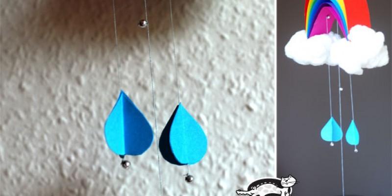 کاردستی کودک: ساخت آویز رنگین کمانی