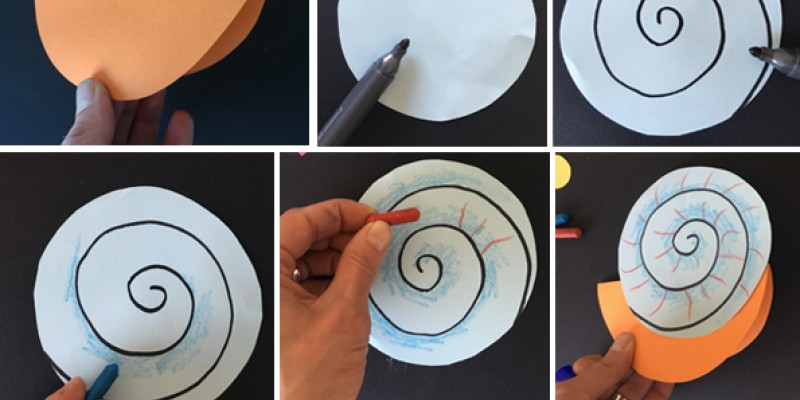 کاردستی کودک: ساخت حلزون با کاغذ رنگی