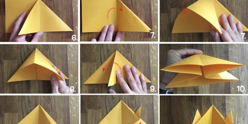کاردستی کودک: ساخت خرچنگ کاغذی اوریگامی