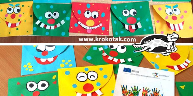 کاردستی کودک: ساخت پاکت هیولایی