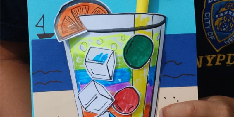 کاردستی کودک: کارت پستال تابستانی خنک!