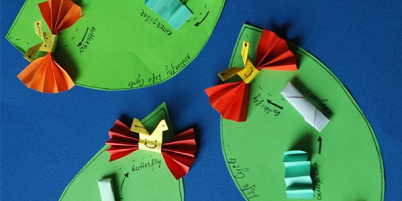 کاردستی کودک: از کرم ابریشم تا پروانه
