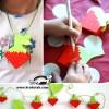 کاردستی تابستانی ساخت توت فرنگی