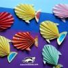 کاردستی کودک: بادبزن به شکل ماهی